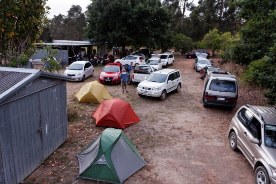 """Camping (or maybe car-parking) at """"Uncle Don's""""."""